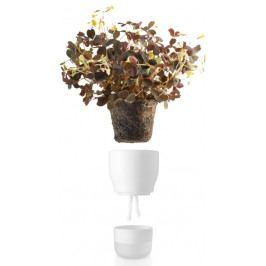Samozavlažovací květináč křídově bílý v.13cm, eva solo