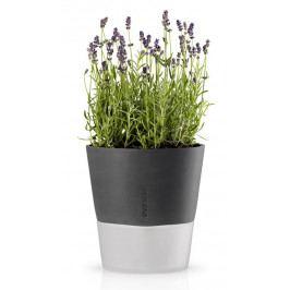 Samozavlažovací květináč tmavě šedý 22cm, Eva Solo