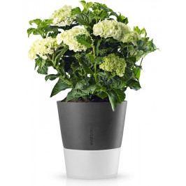 Samozavlažovací květináč tmavě šedý 27cm, Eva Solo