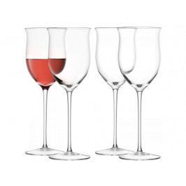 LSA Wine Rosé sklenice skleničky na růžové víno 400ml set 4ks, LSA, Handmade