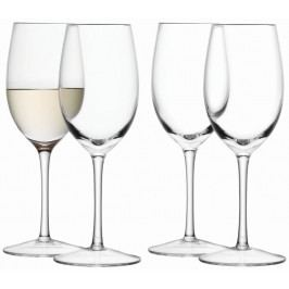 Wine skleničky na bílé víno 260ml, čiré set 4ks, LSA, Handmade