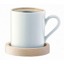 Circle espresso hrnek & jasanový podtácek 90ml, set 2ks , LSA