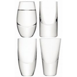 Lulu sklenice na vodku set 4ks - mix tvarů, LSA, Handmade