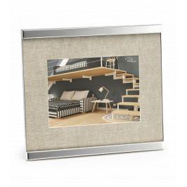Fotorámeček Home, 13 x 18cm, nikl, látka - Philippi