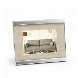 Fotorámeček Home, 9 x 13 cm, nikl, látka - Philippi