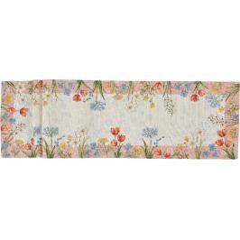 Středový pás Spring Flowers 32 x 180 cm - Sander