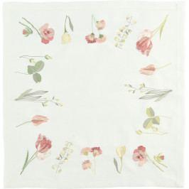Středový pás Tulips & Friends 50 x 140 cm, světlý - Sander