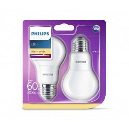 Philips SADA 2x LED žárovka Philips E27/8W/230V P2119