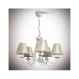Light4home Lustr na řetězu VERSA 5xE14/40W/230V bílý 535 mm