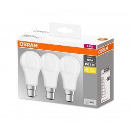 Osram SADA 3x LED Žárovka B22d/13W/230V 2700K