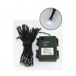 Baterie centrum LED Vánoční venkovní řetěz 5,4 m 50xLED/3xAA 6500 K IP44