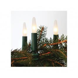 Exihand Vánoční řetěz ASTERIA 10,5 m 16xE10/14V/230V bílá