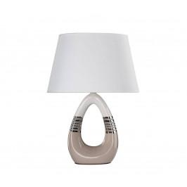 Candellux Stolní lampa ROMANO 1xE27/60W/230V bílá/béžová