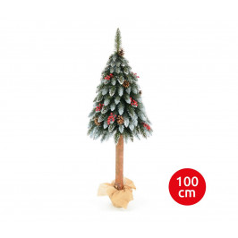 Erbis Vánoční stromek WOOD TRUNK 100 cm jedle
