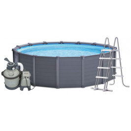 INTEX GRAPHITE GRAY PANEL POOL 4,78 x 1,24 m 26382NP