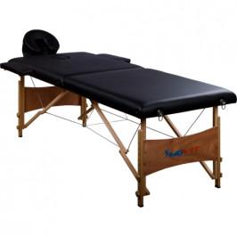 Movit M01332 přenosné masážní lehátko černé 184 x 70 cm