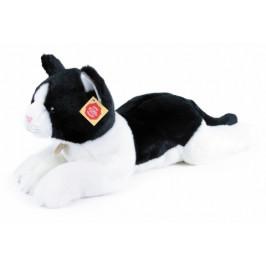 Rappa Plyšová kočka černo-bílá 35 cm 835085