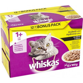 Whiskas adult drůbeží výběr ve šťávě 12 x 100 g