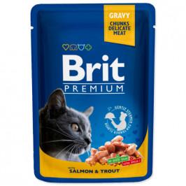 Brit cat adult Premium Pouches with Salmon & Trout 100 g