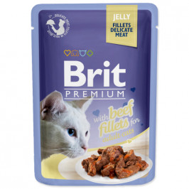 Brit cat Premium Fillets jelly Beef 85 g