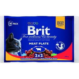 Kapsičky Brit Premium Cat Meat Plate 400 g