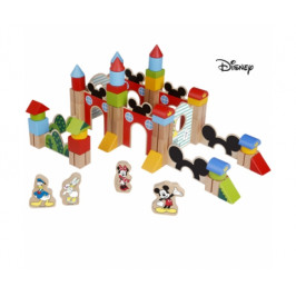 Derrson Dřevěné Velké kostky 60 ks Mickeyho hrad