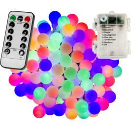 VOLTRONIC® Párty LED osvětlení 5 m - barevné 50 diod - BATERIE