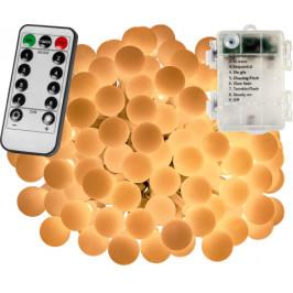 VOLTRONIC® Párty LED osvětlení 5 m - teplá bílá 50 diod - BATERIE