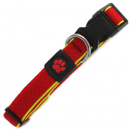 Obojek Active Dog Fluffy Reflective červený   M