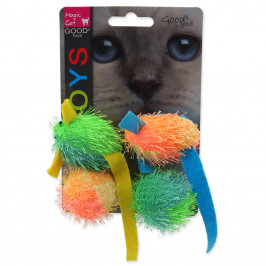 MAGIC CAT hračka myš a koule s catnipem 5 cm 4 ks