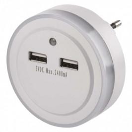 EMOS P3313 LED noční světlo do zásuvky s 2 x USB