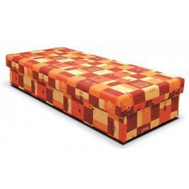 Válenda Dana 90x200, oranžová, vč. matrace a úp