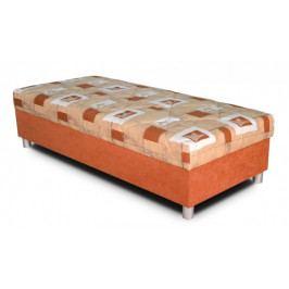 Válenda George 90x200, oranžová, vč. matrace a úp