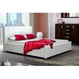 Čalouněná postel Boa Vista 180x200, bílá, bez matrace a roštu