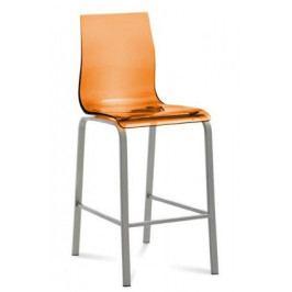 Barová židle Gel (oranžová transparentní)