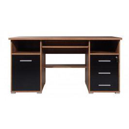 Office - PC stůl (ořech / černá)