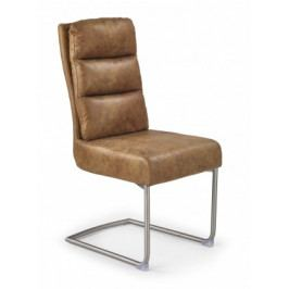 K207 - Jídelní židle (hnědá, stříbrná)