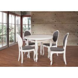Set 2 - 4x židle, stůl, rozklad (dýha dub/cayenne 13/masiv buk)