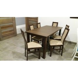 Agáta - Set 6x židle, 1x stůl + rozklad (wenge/madryt 126)