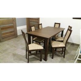 Aga - Set 6x židle, 1x stůl + rozklad (wenge/lana 22)