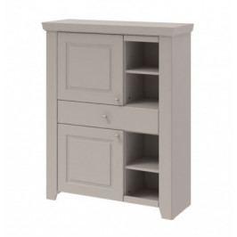 Domi - Skříňka levá, 2x dveře, 1x zásuvka (kašmír)