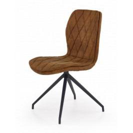 K237 - Jídelní židle, hnědá (ocel, eko kůže)
