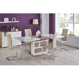 Jídelní stůl Domus - rozkládací (bílá/dub san remo)