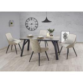 Jídelní stůl Halifax - 160x90x76 cm (beton/černá)