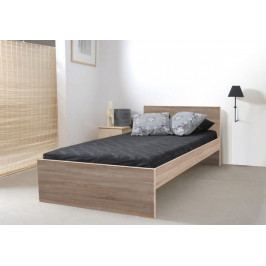 Dřevěná postel Nikola I 90x200 cm, dub