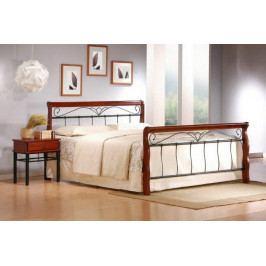 Kovová postel Verona 180x200 cm, třešeň, černá