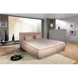 Čalouněná postel Harmonie 180x200 cm, béžová,s úložným prostorem