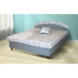 Čalouněná postel Corveta 180x200, šedá, vč. matrace a úp