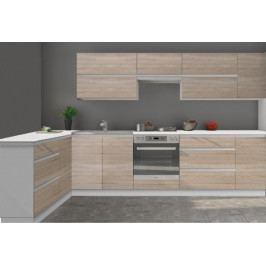 Kuchyně Line - 320x160 cm (dub sonoma/bílá)