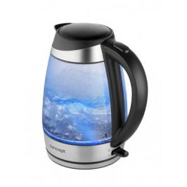 Rychlovarná konvice Concept RK4110, modrá/sklo, 1,7l
